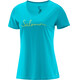 Salomon W's Mazy Graphic SS Tee blue bird